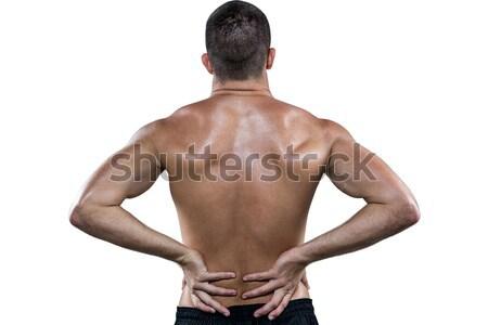 背面図 シャツを着ていない 選手 白 男 ストックフォト © wavebreak_media