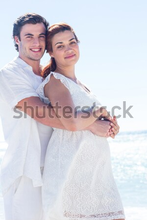 Boyfriend giving piggy back to girlfriend Stock photo © wavebreak_media