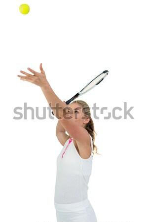 Atleta tênis pronto mulher esportes Foto stock © wavebreak_media
