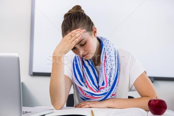 Enseignants souffrance maux de tête classe Photo stock © wavebreak_media
