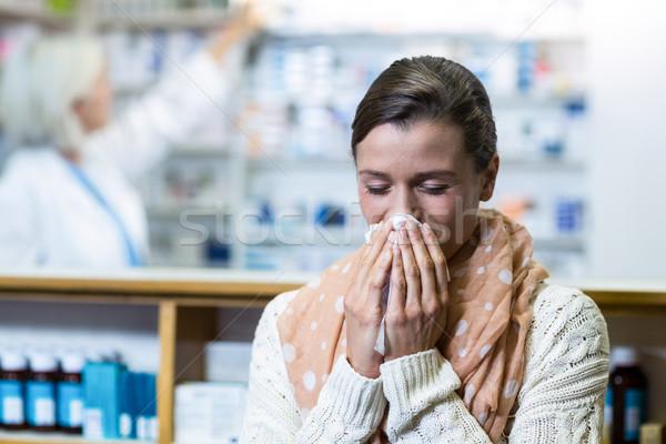 Cliente nariz mujer médicos medicina femenino Foto stock © wavebreak_media