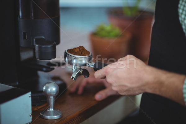De ober grond koffie cafe hand Stockfoto © wavebreak_media