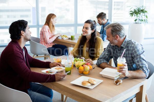 Twórczej zespół firmy posiłek biuro działalności Zdjęcia stock © wavebreak_media