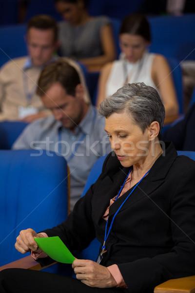 бизнеса исполнительного глядя зеленый карт женщину Сток-фото © wavebreak_media