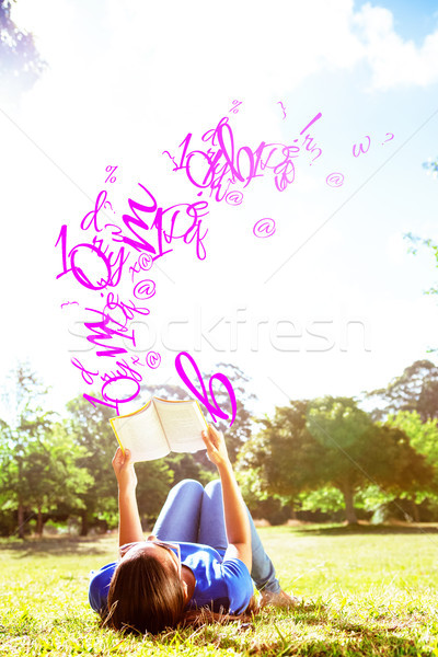 Image lettres nombre ponctuation heureux Photo stock © wavebreak_media