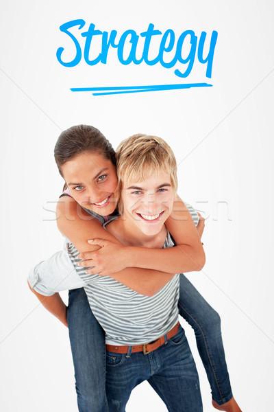 Estrategia blanco amor hombre fondo amigos Foto stock © wavebreak_media