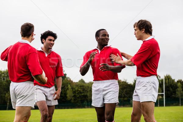 Rugby players celebrating a win Stock photo © wavebreak_media