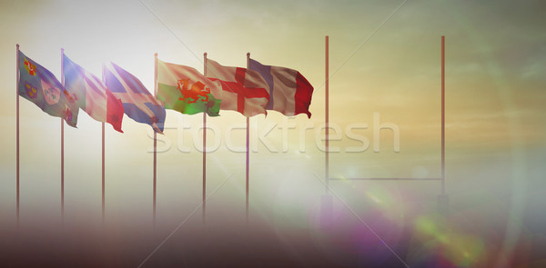 Composite image of rugby pitch Stock photo © wavebreak_media
