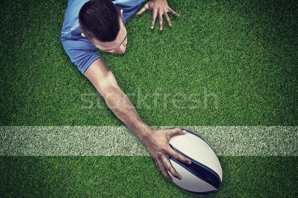 Bild Rückansicht Rugby Spieler Vorderseite Stock foto © wavebreak_media