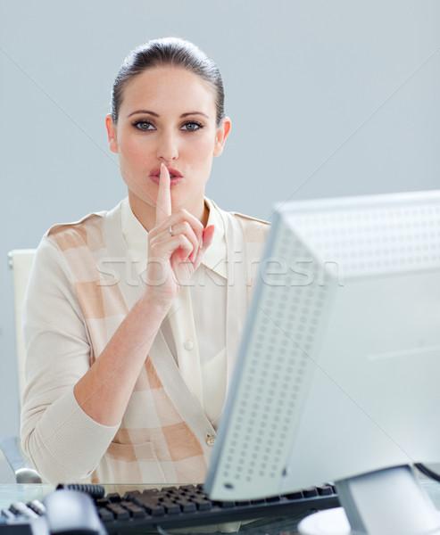 Atrakcyjny kobieta interesu komputera ciszy biuro Zdjęcia stock © wavebreak_media