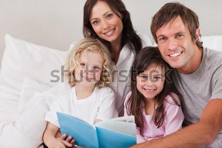 Fiatal család szörfözik internet nappali számítógép Stock fotó © wavebreak_media