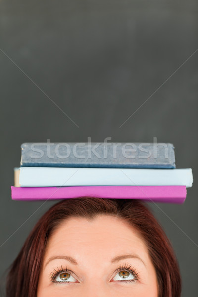 Feliz libros cabeza cámara Foto stock © wavebreak_media