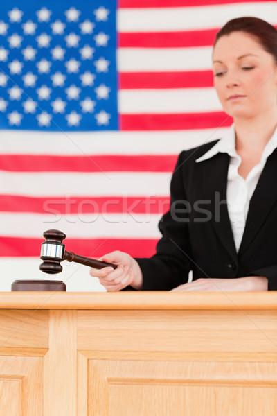 Portre odaklı yargıç tokmak kamera odak Stok fotoğraf © wavebreak_media
