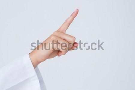 Zijaanzicht duim omhoog witte hand communicatie Stockfoto © wavebreak_media