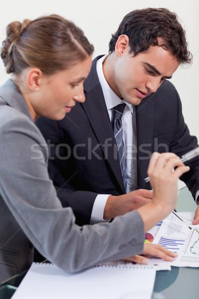 портрет профессиональных бизнес-команды изучения статистика конференц-зал Сток-фото © wavebreak_media