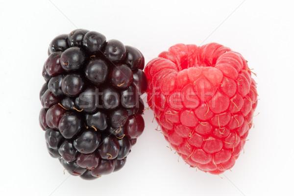 BlackBerry frambuesa blanco frutas beber rojo Foto stock © wavebreak_media