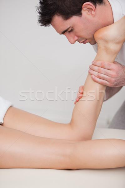 Chiropractor hasta oda adam tıbbi Stok fotoğraf © wavebreak_media