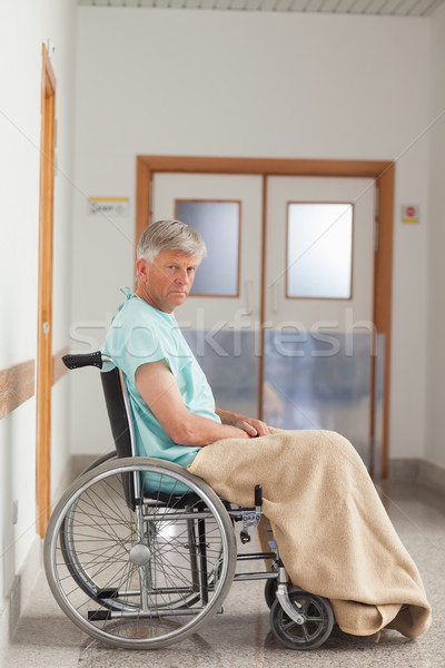 Patient sitting in a wheelchair with a blanket in hospital  Stock photo © wavebreak_media