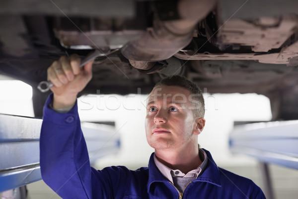 механиком автомобилей гаечный ключ гаража службе Сток-фото © wavebreak_media