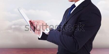 Entusiasta cameriere qualcosa suit shirt Foto d'archivio © wavebreak_media