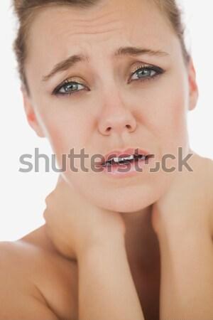 Woman suffering from neckache Stock photo © wavebreak_media