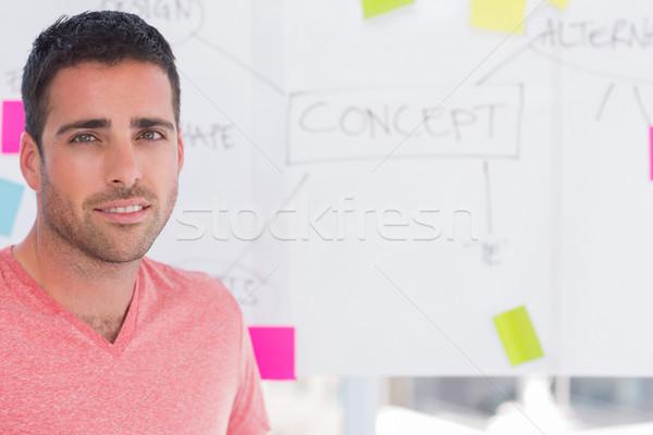 Designer standing in front of whiteboard Stock photo © wavebreak_media
