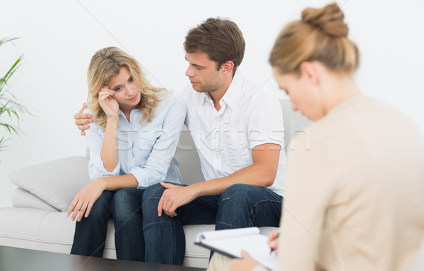 Couple in meeting with a financial adviser Stock photo © wavebreak_media