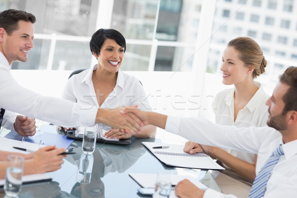 Executives shaking hands during a business meeting Stock photo © wavebreak_media