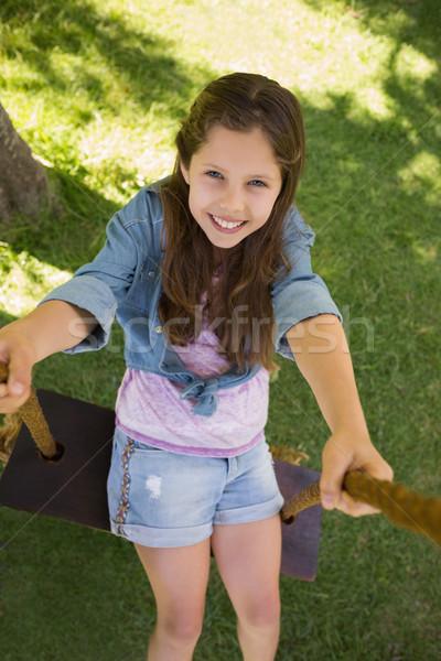 かわいい 若い女の子 スイング 表示 ストックフォト © wavebreak_media