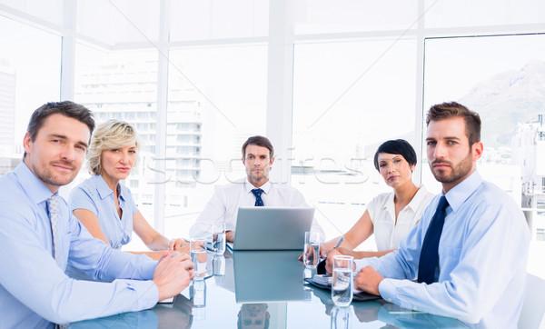 座って 周りに 会議 表 小さな ストックフォト © wavebreak_media