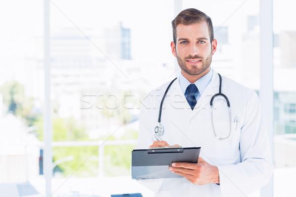 Portre erkek doktor ayakta hastane tıbbi Stok fotoğraf © wavebreak_media