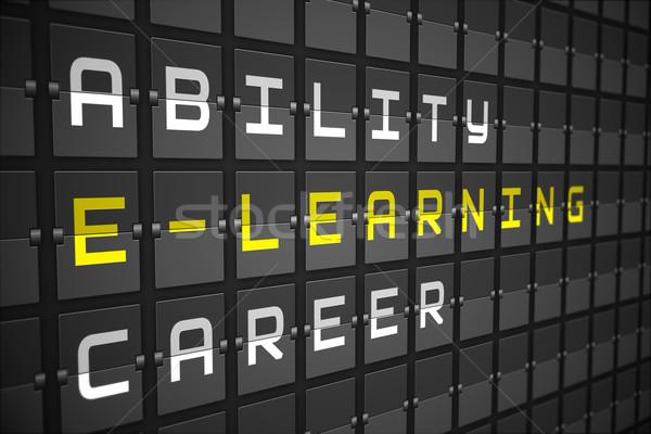 Online oktatás fekete gépi tábla digitálisan generált Stock fotó © wavebreak_media