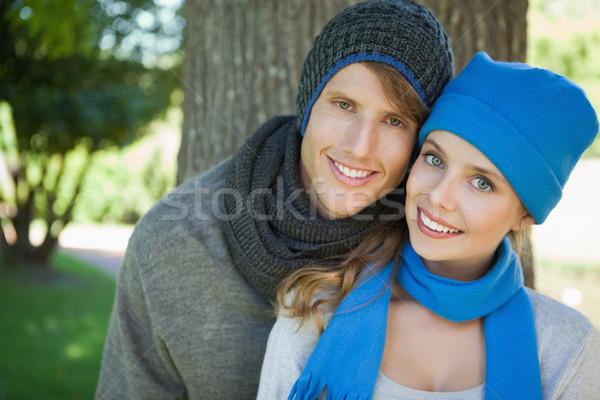 かわいい カップル 笑みを浮かべて カメラ ストックフォト © wavebreak_media
