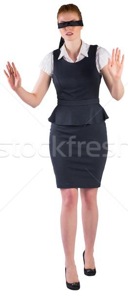 Redhead businesswoman in a blindfold Stock photo © wavebreak_media