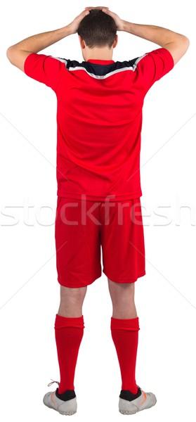Deluso guardando verso il basso bianco uomo calcio Foto d'archivio © wavebreak_media