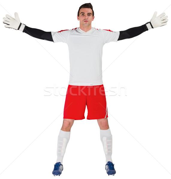 Goalkeeper in white ready to save Stock photo © wavebreak_media