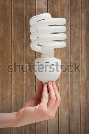 手 エネルギー 電球 白 ストックフォト © wavebreak_media