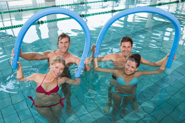 Felice fitness classe aerobica schiuma Foto d'archivio © wavebreak_media