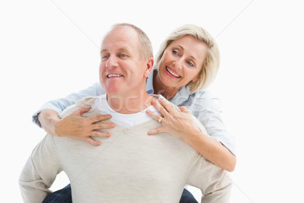 Feliz homem maduro de volta parceiro branco Foto stock © wavebreak_media