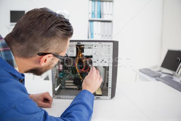 Komputera inżynier pracy podziale pocieszyć biuro Zdjęcia stock © wavebreak_media