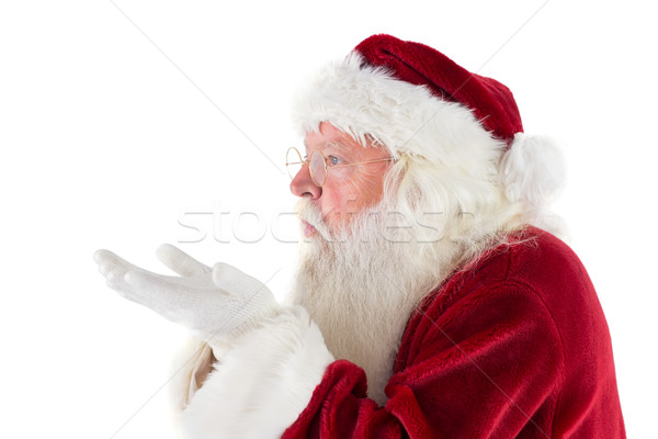 Kerstman iets weg kant witte man Stockfoto © wavebreak_media