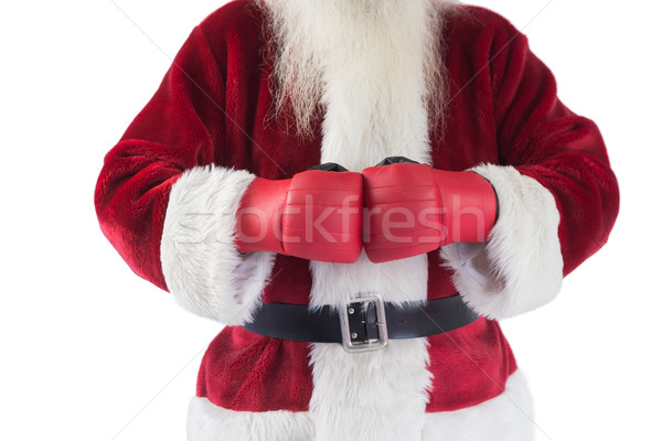サンタクロース ボクシンググローブ 白 男 クリスマス ボクシング ストックフォト © wavebreak_media