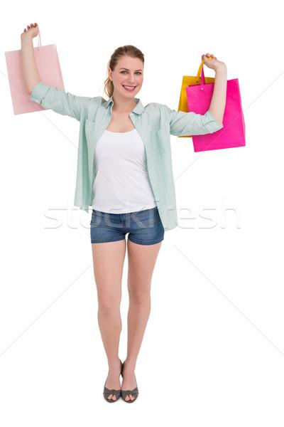Uśmiechnięty młoda kobieta biały szczęśliwy Zdjęcia stock © wavebreak_media