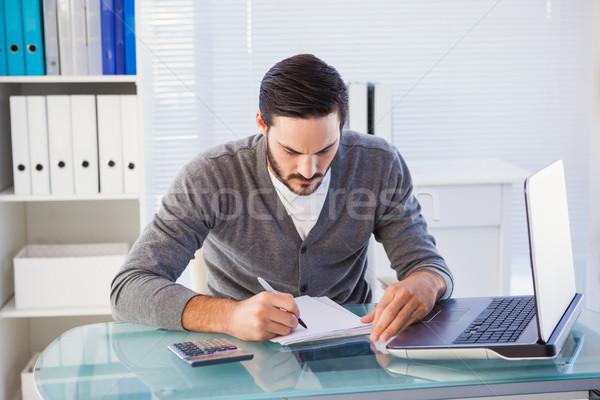 Gericht toevallig zakenman werken bureau kantoor Stockfoto © wavebreak_media