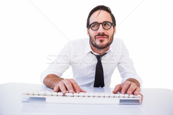 üzlet munkás olvasószemüveg számítógép fehér férfi Stock fotó © wavebreak_media