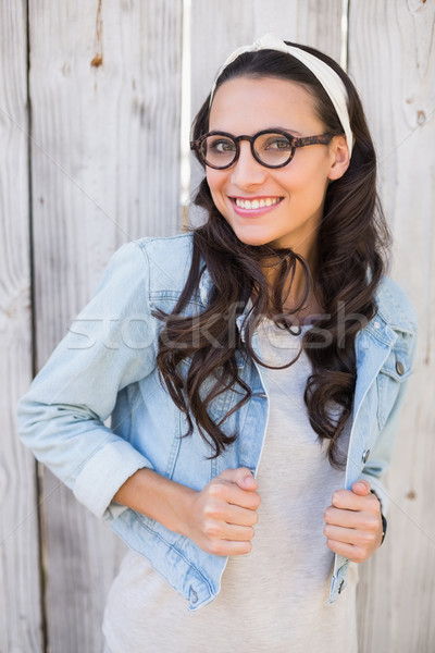 Pretty hipster smiling at camera Stock photo © wavebreak_media