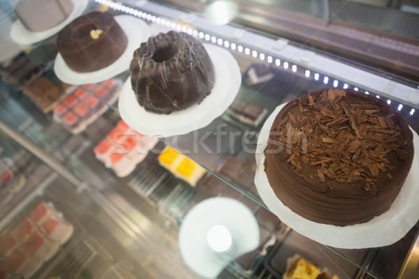 Exibir caso chocolate bolos padaria negócio Foto stock © wavebreak_media