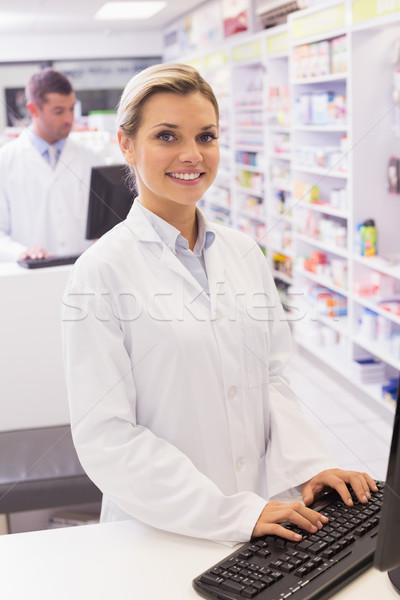 Farmacista ospedale farmacia computer donna Foto d'archivio © wavebreak_media