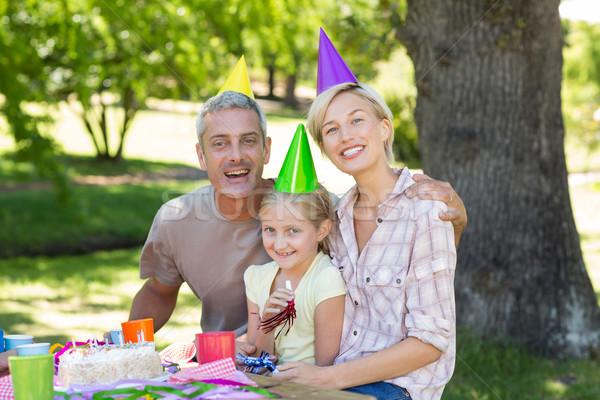 Happy couple with their daughter  Stock photo © wavebreak_media