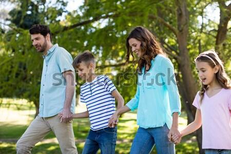 Man ontrouw park paar lopen Stockfoto © wavebreak_media